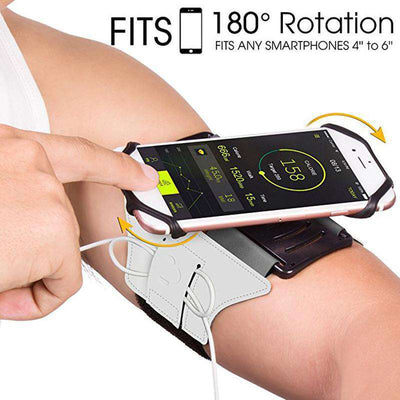 180° Rotating Mobile Phone Wrist Strap And Armband Bracket