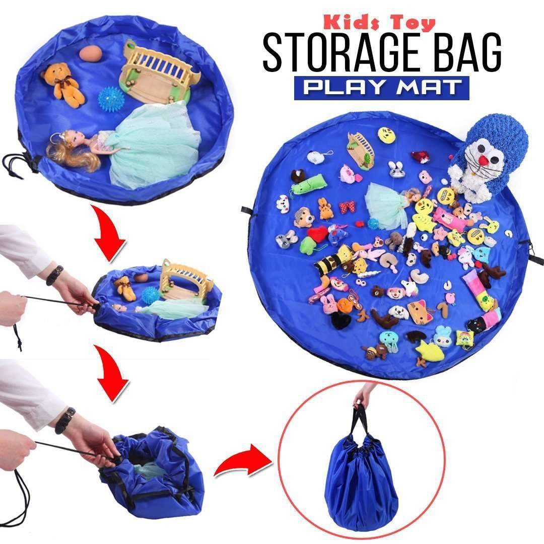 Kids Toy Storage Bag Play Mat