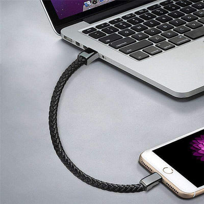 Premium Leather Fast Charging Cable Bracelet - iPhone/Type C/Micro USB