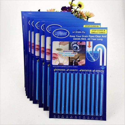 Magic Drain Deodorant Cleaning Sticks - 12Pcs/ Set
