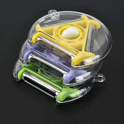 INSTCHEF™ Compact 4-in-1 Tri-Blade Rotary Peeler