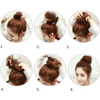 Curly Messy Bun Hair Extension