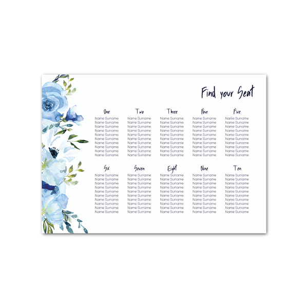 Angharad Floral Table Plan