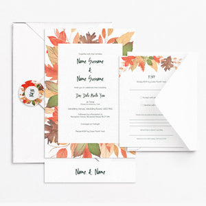 Autumnal Invitation Set