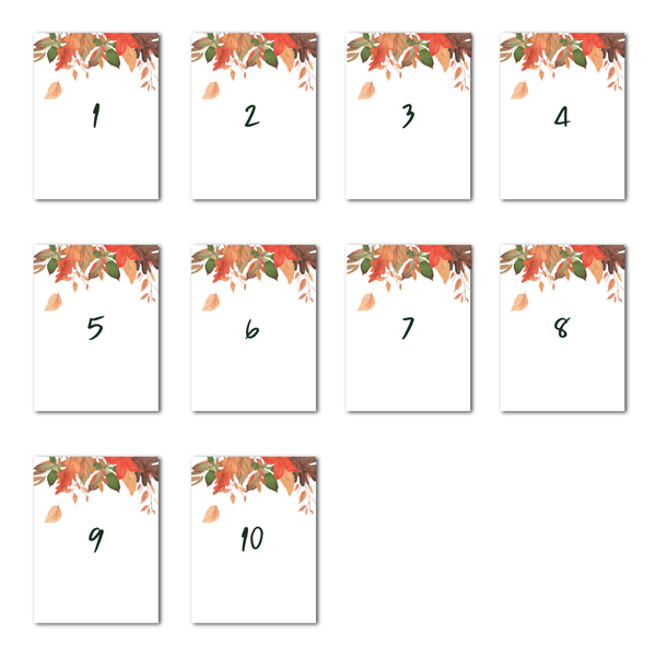 Autumnal Table Numbers