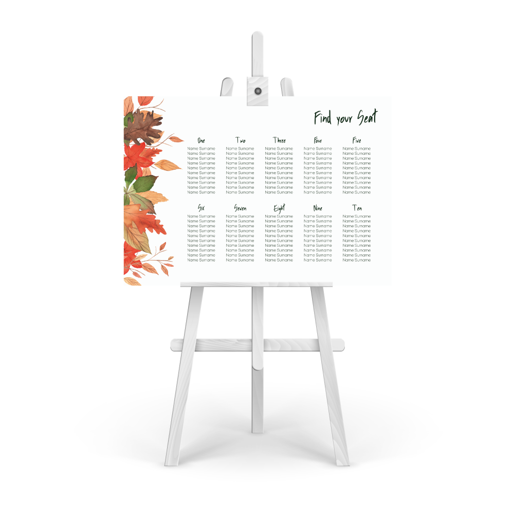 Autumnal Table Plan