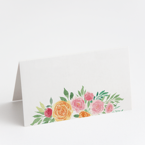 Blush Floral Place Cards