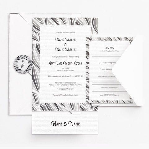 Deco Grey Invitation Set
