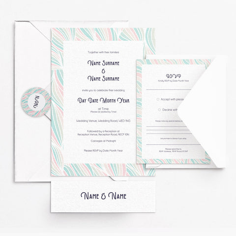 Deco Pastel Invitation Set