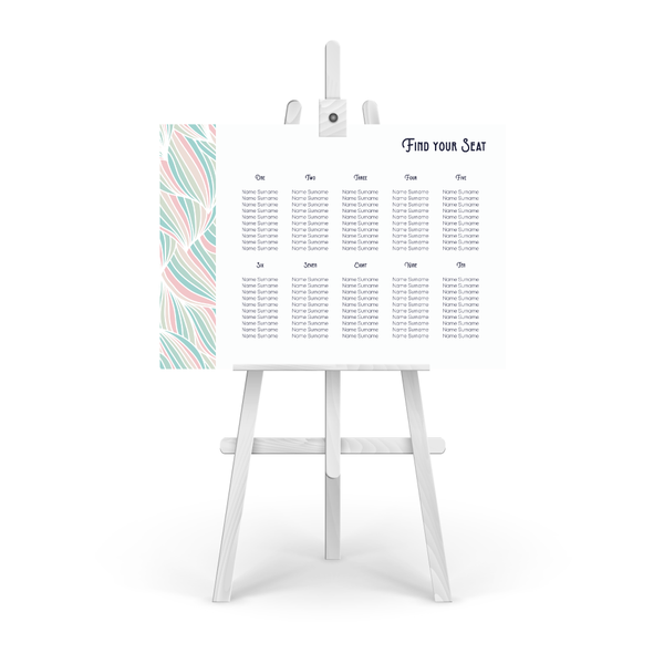 Deco Pastel Table Plan