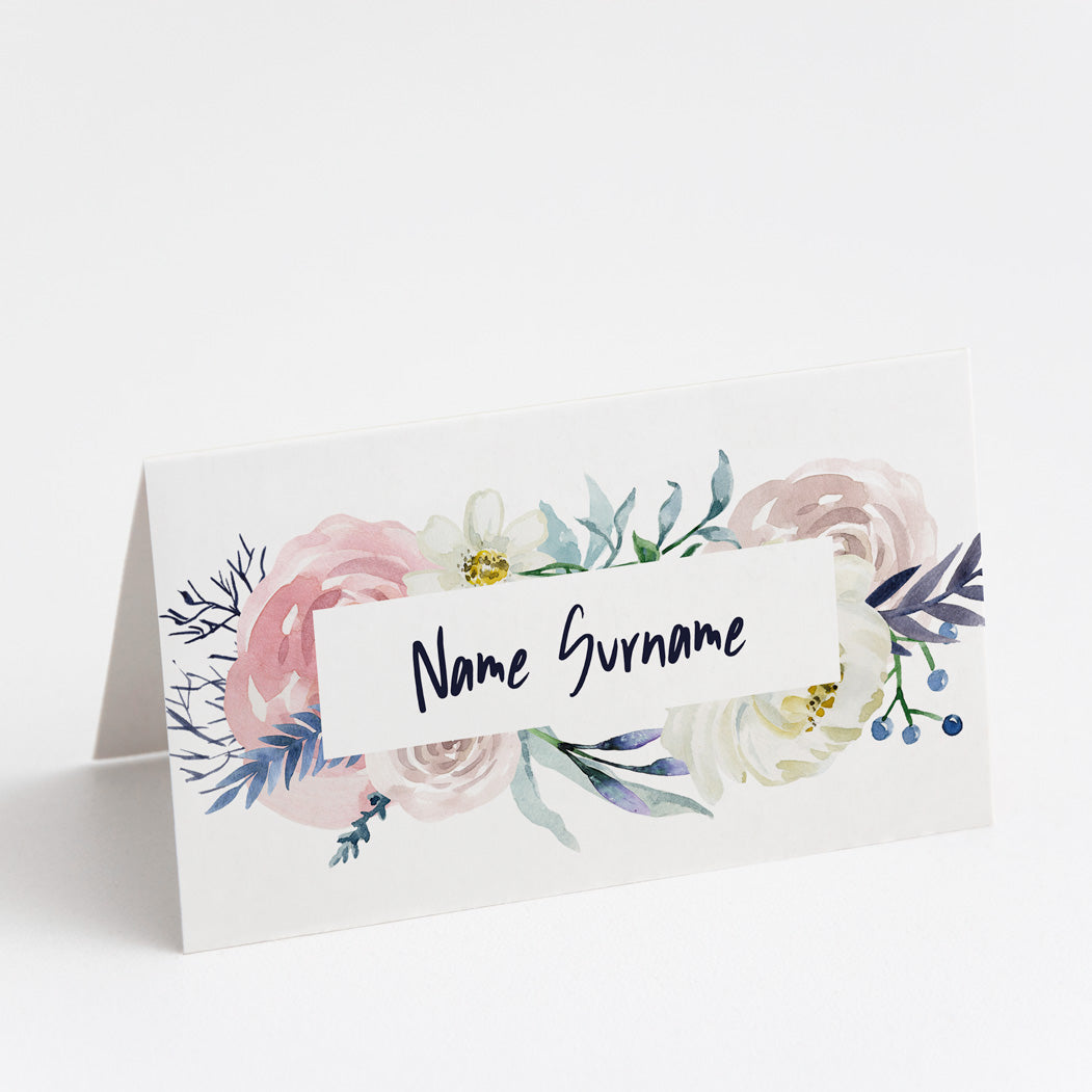Emma Floral Place Cards