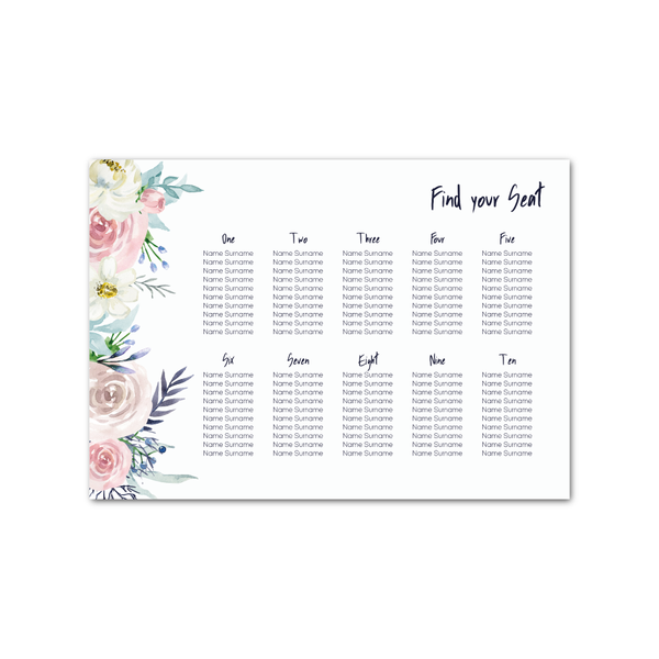 Emma Floral Table Plan