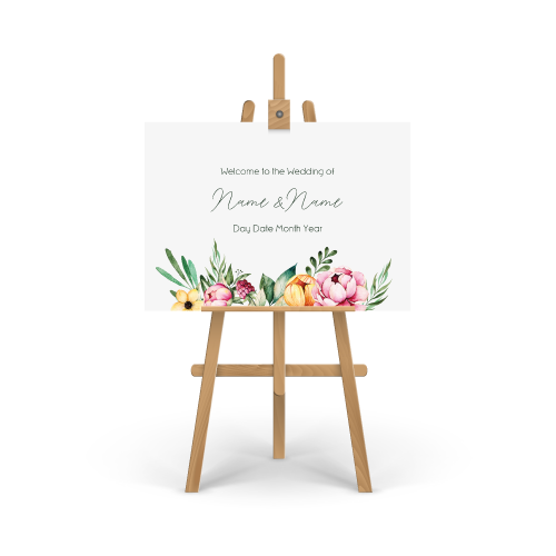 Fran Floral Welcome Sign