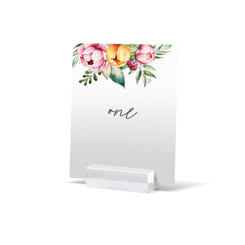 Fran Floral Table Numbers