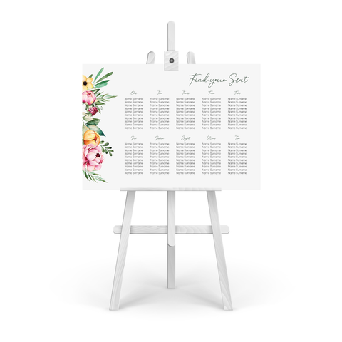 Fran Floral Table Plan