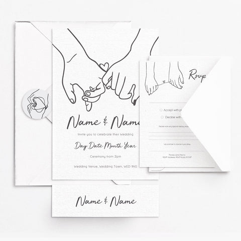 Holding Hands Invitation Set