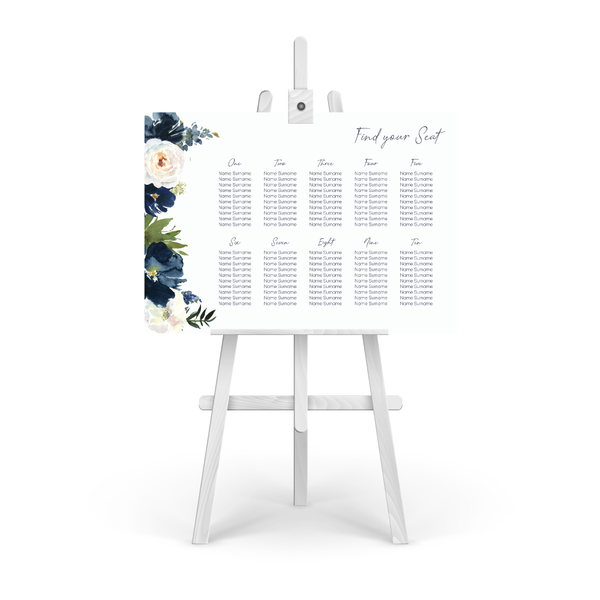 Katie Floral Table Plan