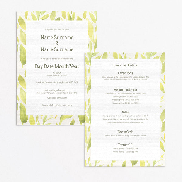 Lemony Fresh Invitation Set