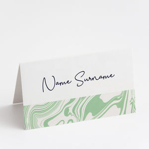 Marbleous Green Place Cards