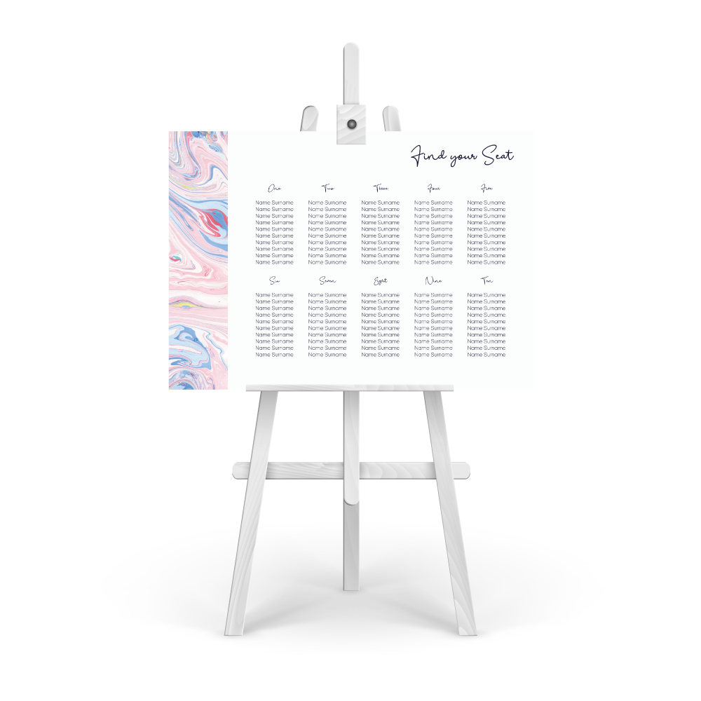 Marbleous Pinks Table Plan