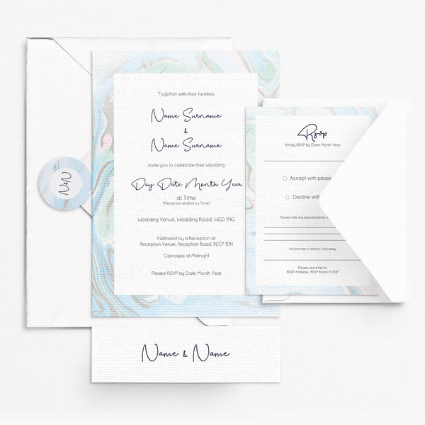 Marbleous Sea Invitation Set
