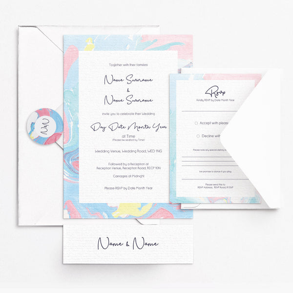 Marbleous Summer Invitation Set