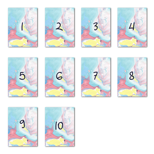 Marbleous Summer Table Numbers