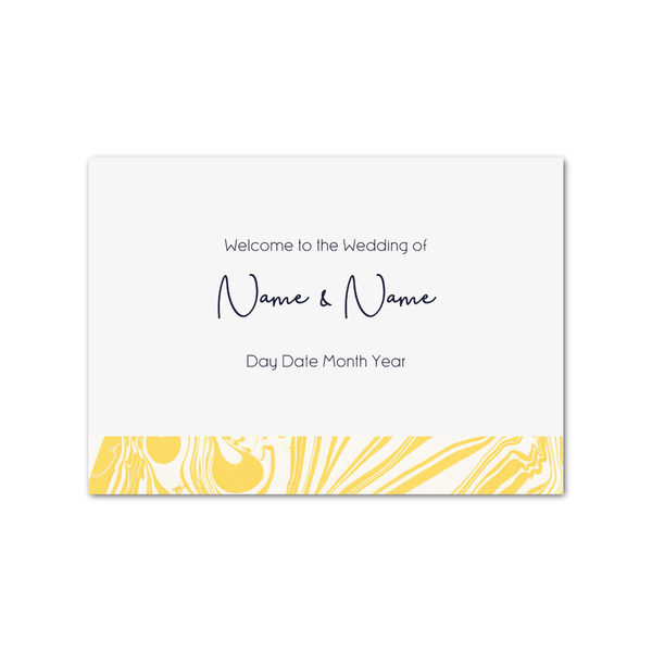 Marbleous Yellow Welcome Sign