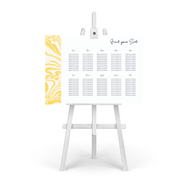 Marbleous Yellow Table Plan