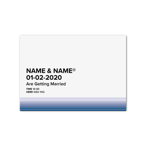 Pantone Blue Welcome Sign