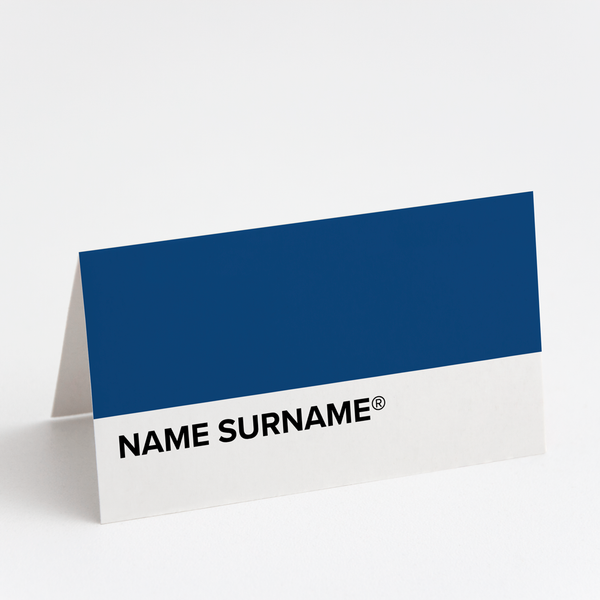 Pantone Blue Place Cards