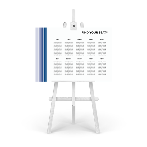 Pantone Blue Table Plan