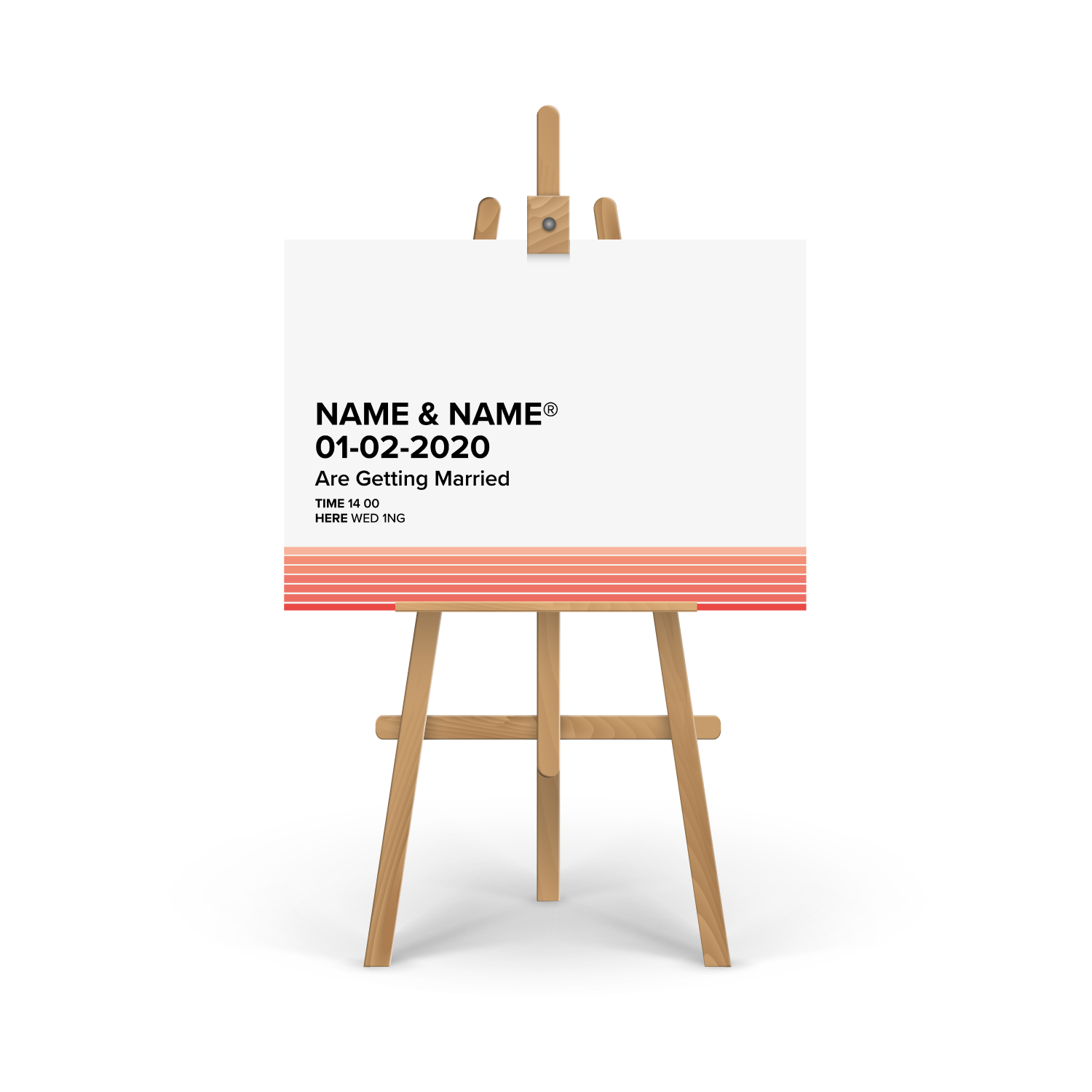 Pantone Coral Welcome Sign
