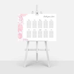 Pink Peonies Table Plan