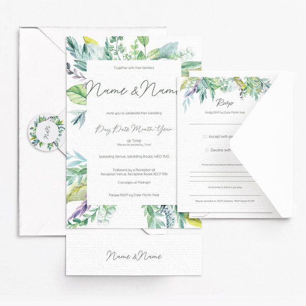 Rustic Foliage Invitation Set