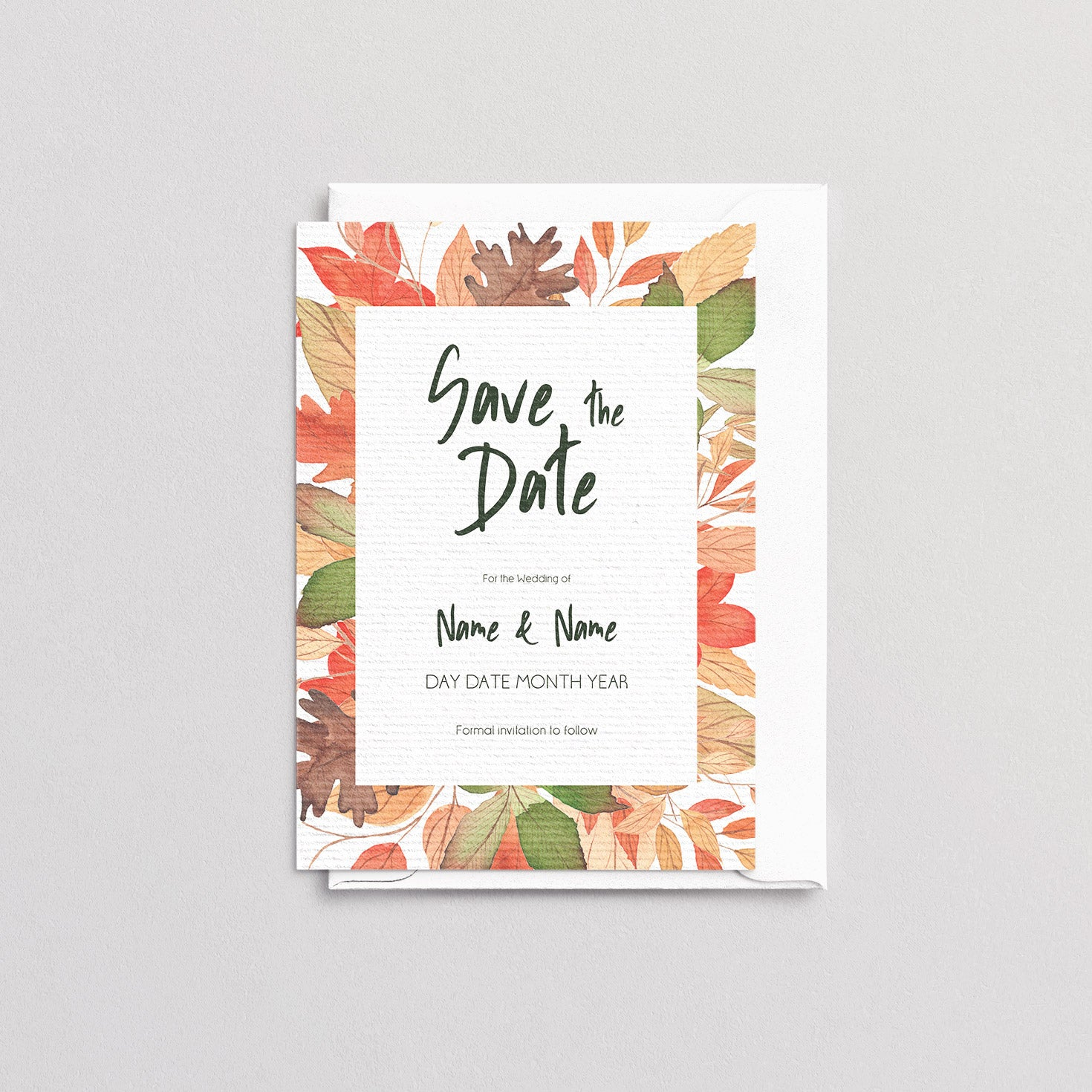 Autumnal Save The Date