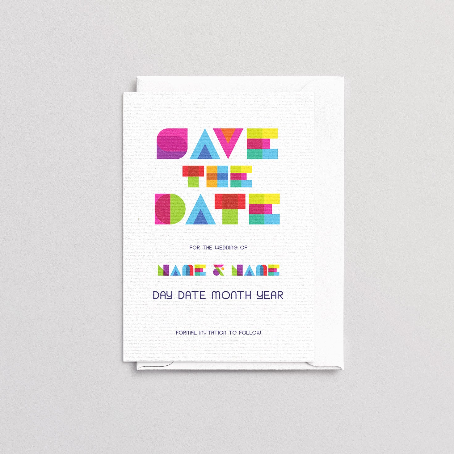 Colour Block Save The Date
