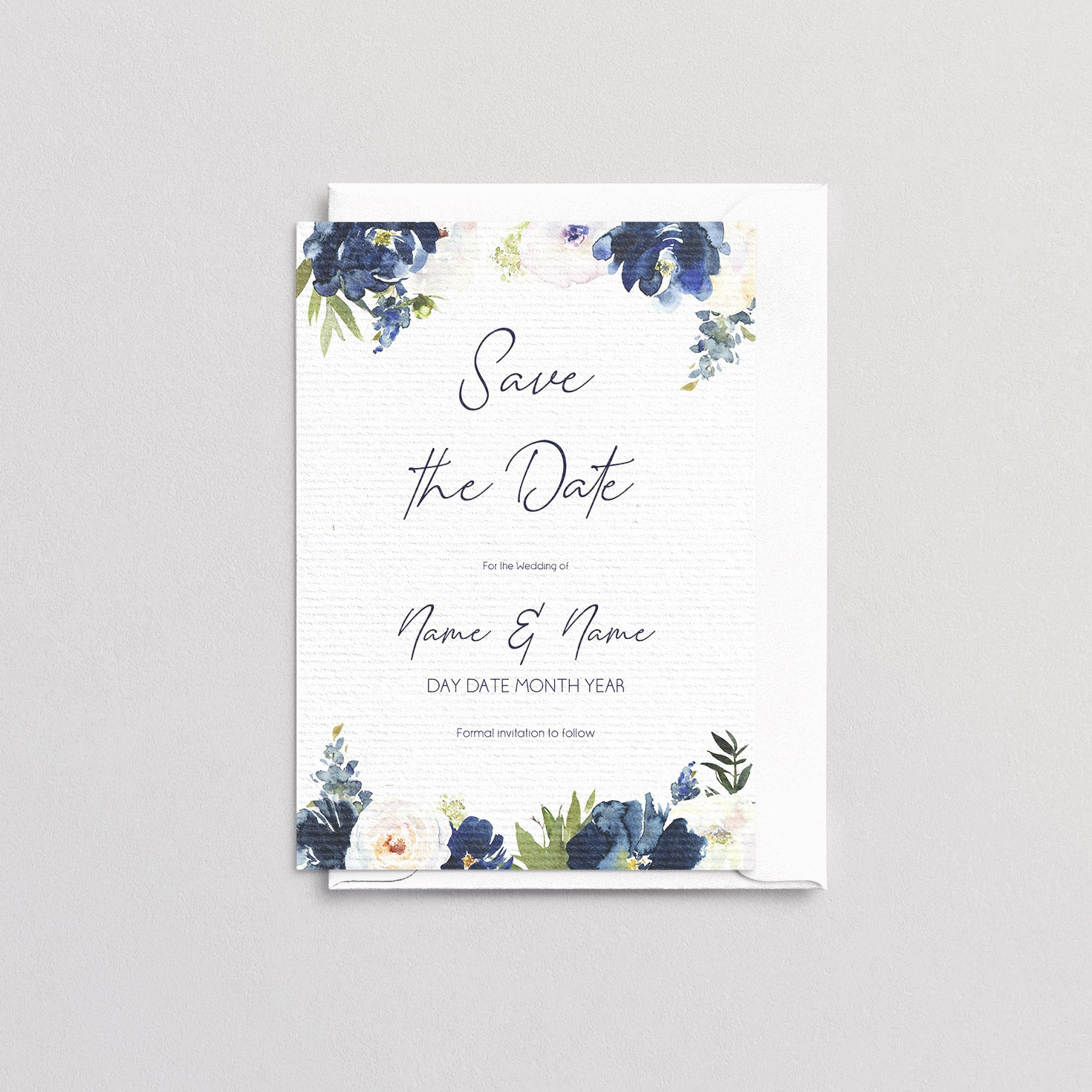 Katie Floral Save The Date
