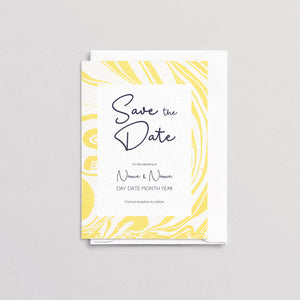 Marbleous Yellow Save The Date