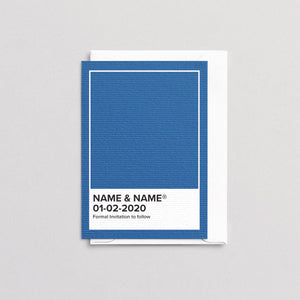 Pantone Blue Save The Date