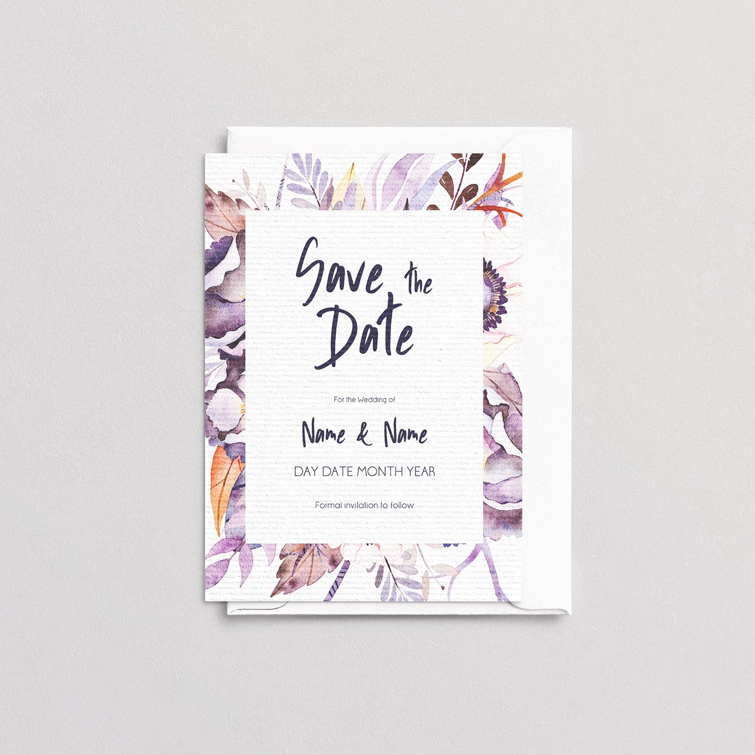 Victoria Floral Save The Date