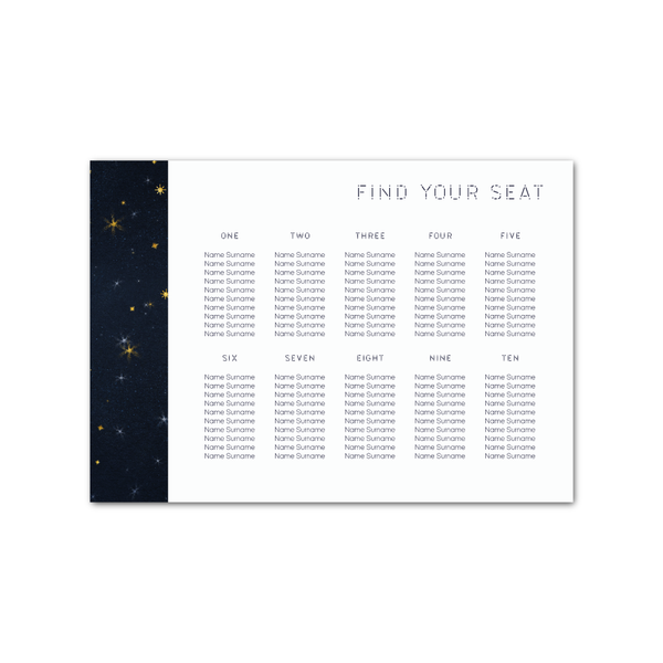 Starry Eyed Table Plan