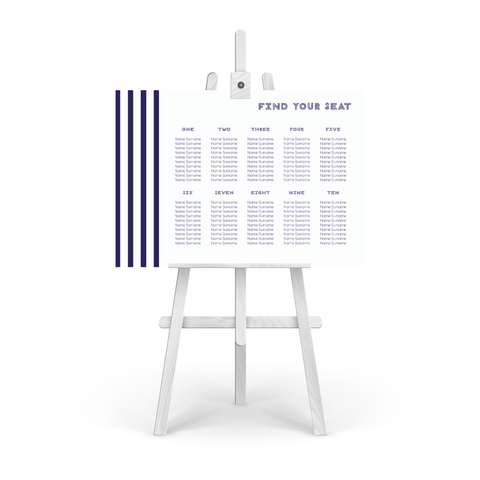 Stripes Table Plan
