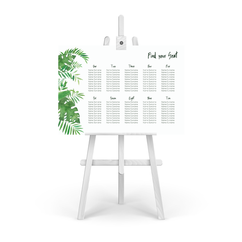 Tropical Table Plan