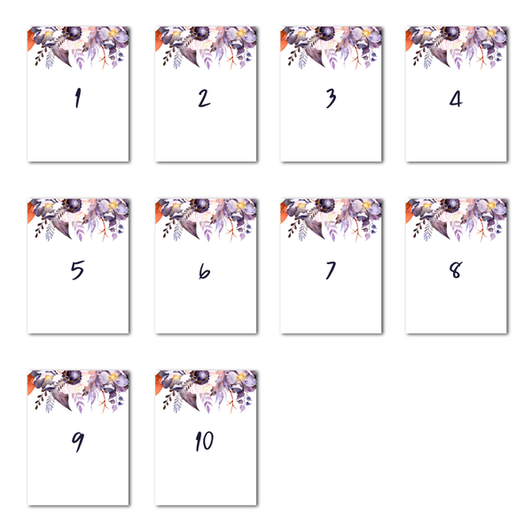 Victoria Floral Table Numbers