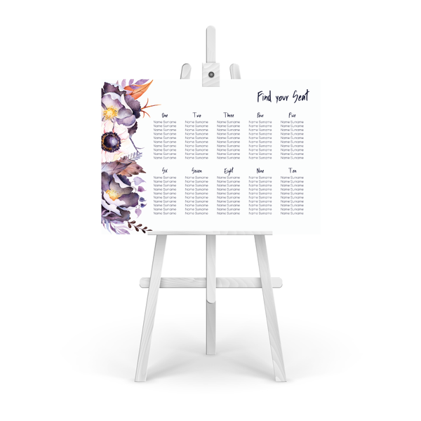 Victoria Floral Table Plan