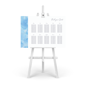 Watercolour Blue Table Plan