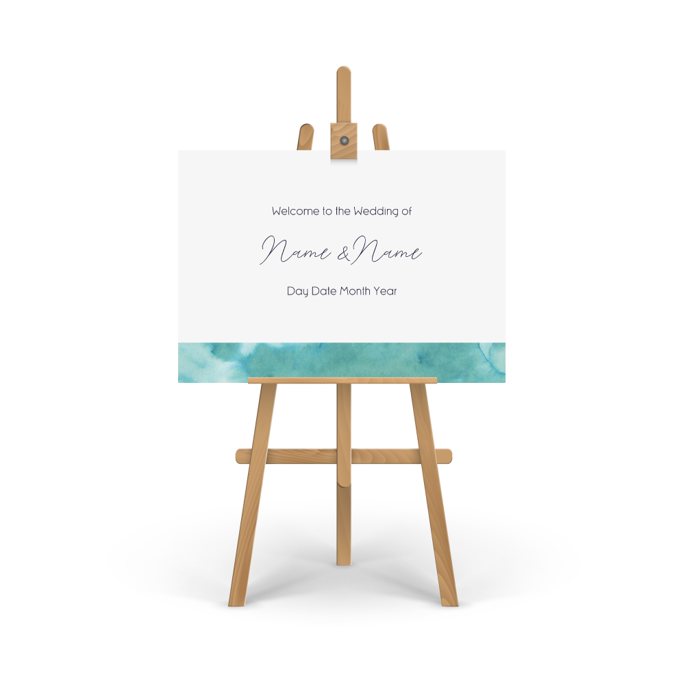 Watercolour Green Welcome Sign