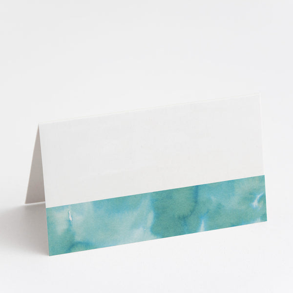 Watercolour Green Place Cards