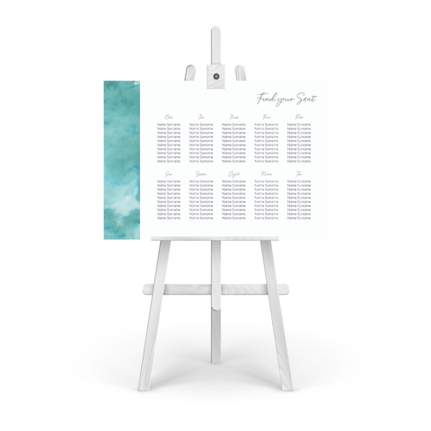 Watercolour Green Table Plan